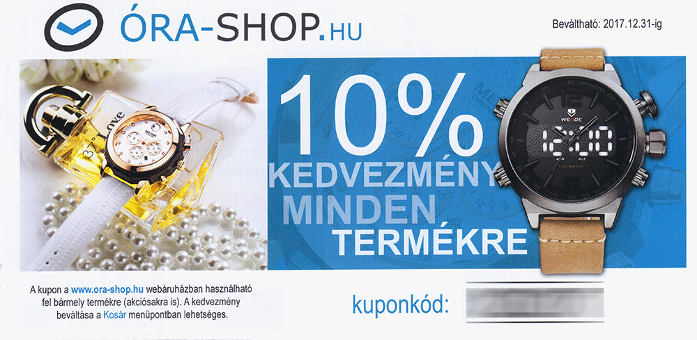 Óra-Shop kupon