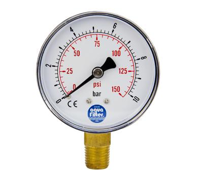 Aquafilter nyomásmérő óra 0-10 bar 1/4