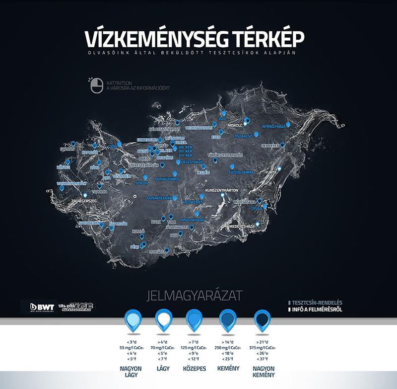 magyarország vízkeménység térkép Vízkeménység térkép Magyarország magyarország vízkeménység térkép